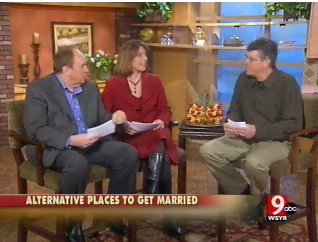 Michael Erb from CNYweddings.com on Bridge Street with Rick and Julie